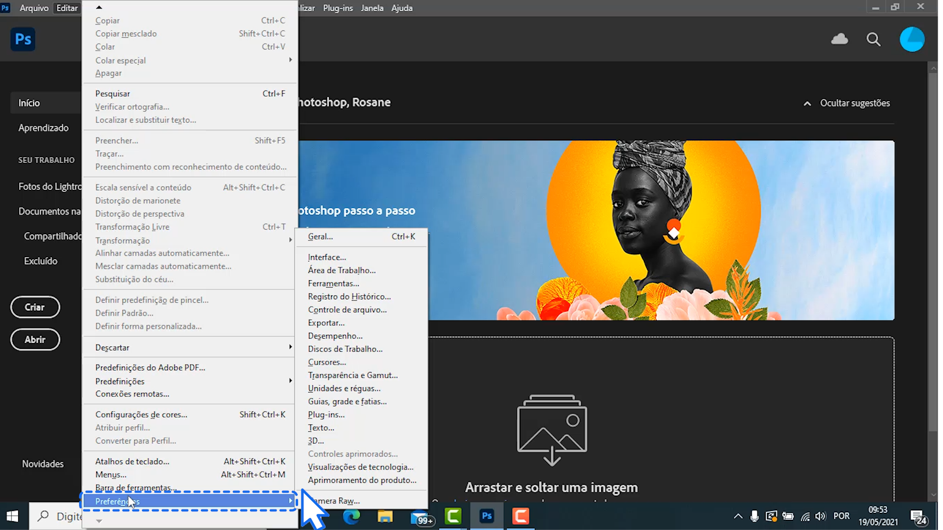 Como personalizar a área de trabalho do Photoshop 3