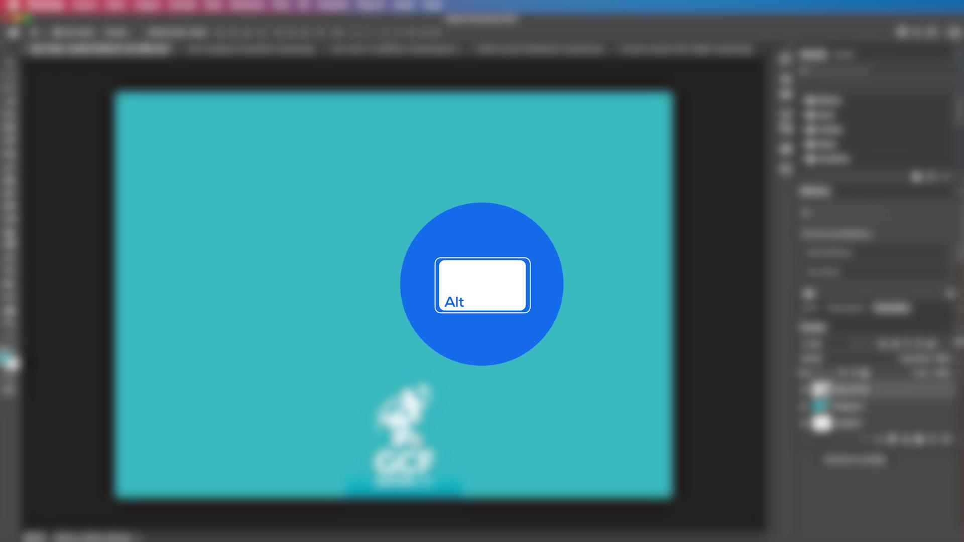 Como copiar elementos com a ferramenta mover do Photoshop - parte 4