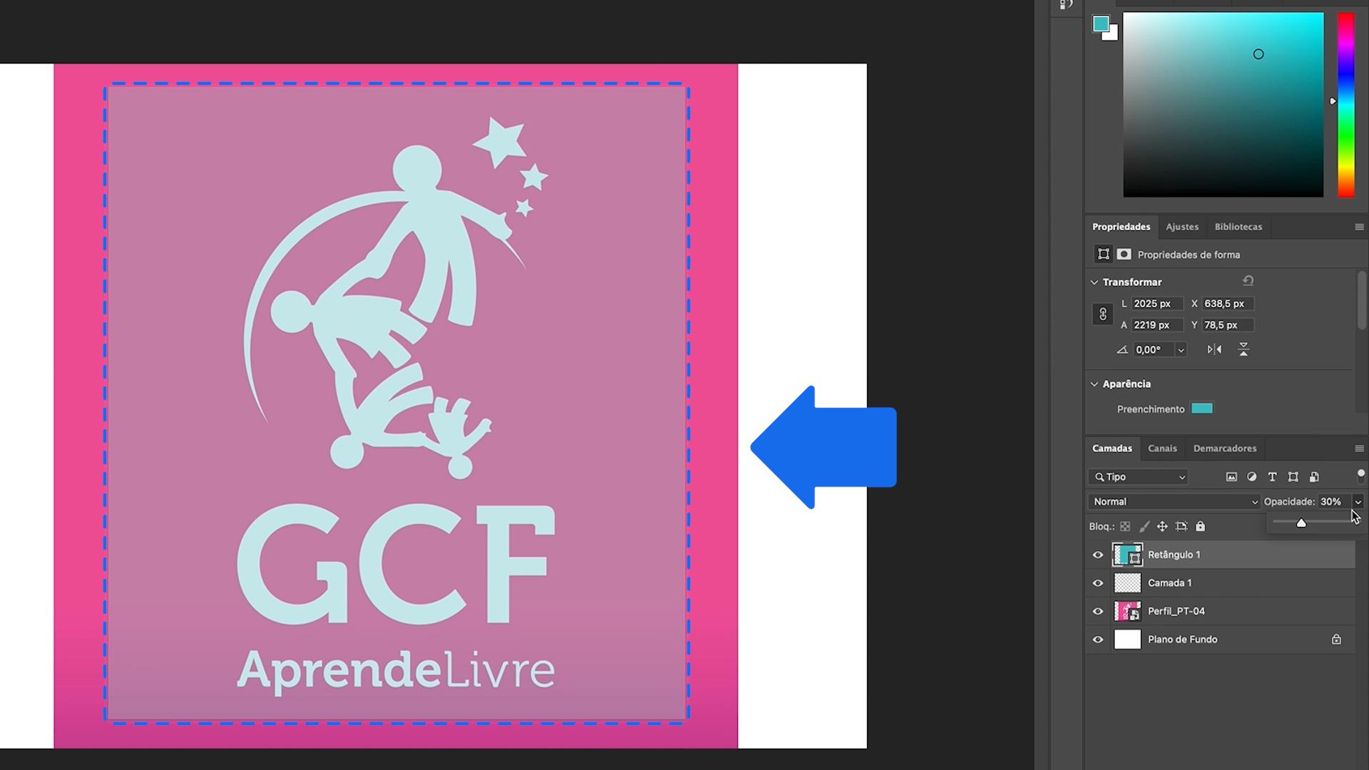 Como editar a opacidade de uma camada do Photoshop - parte 3