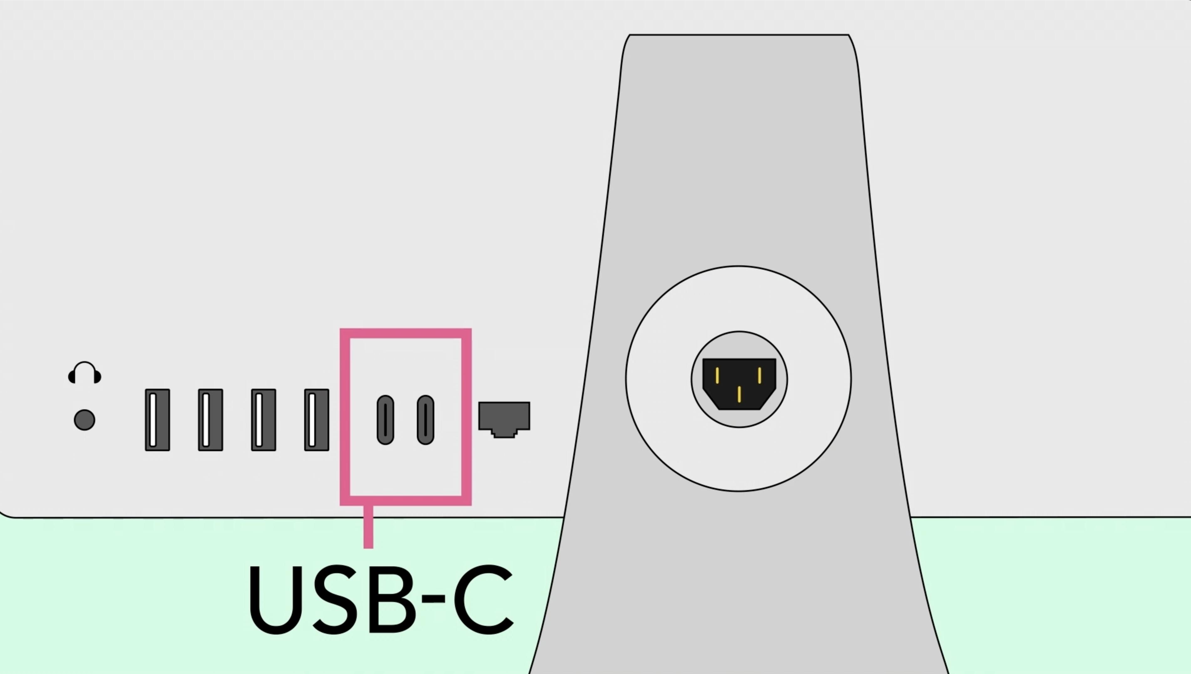 O que é a entrada USB-C de um computador