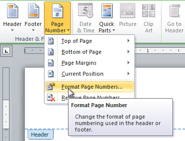 Word 2010: Working with Headers and Footers
