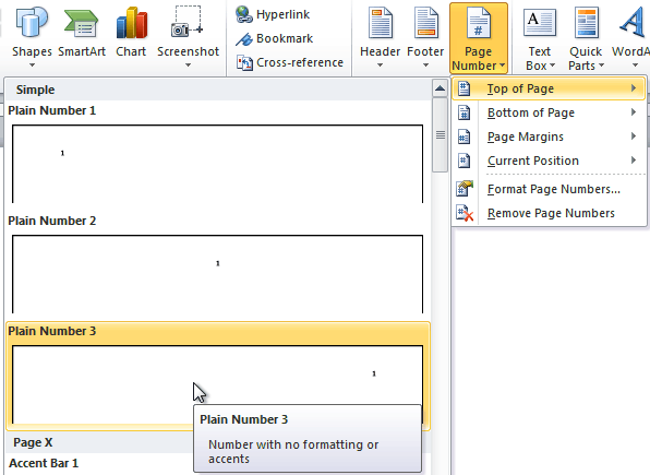 New Page 4 >> Word 2010 Working With Headers And Footers Page 4