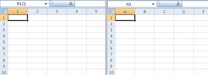 Screenshot of Excel 2007