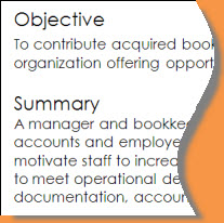 objective and summary example
