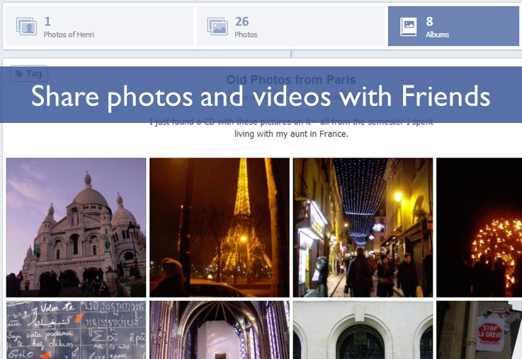 Share photos and videos with Friends