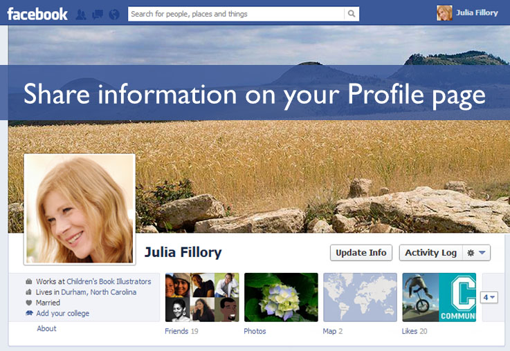 Share information on your Profile page1
