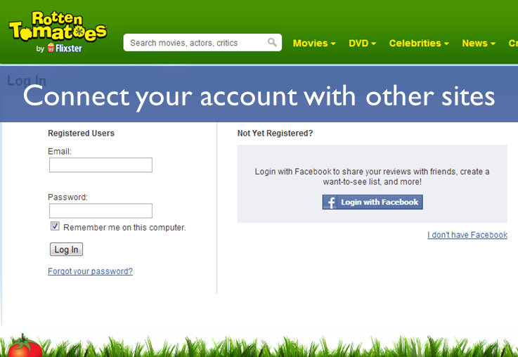 Connect your account with other sites