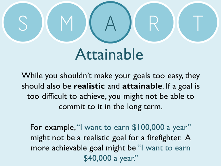 ... How To Write S.M.A.R.T. Goals. Slide1; Slide2; Slide3; Slide4 ...  How To Write Career Goals