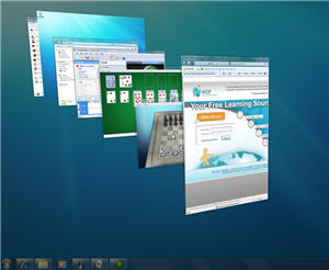 aero desktop with Peek 3D