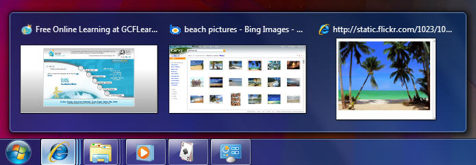 Image result for windows aero peek taskbar
