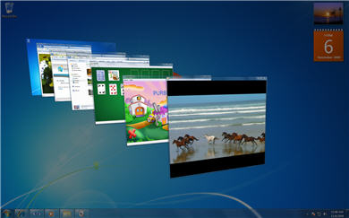 Desktop showing flip 3d
