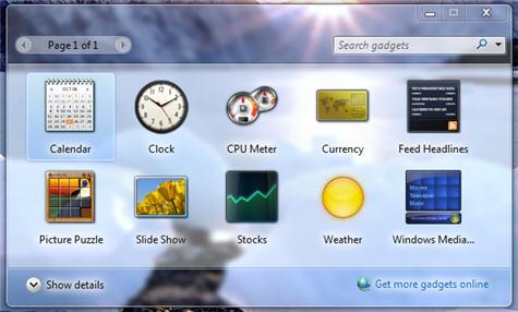 Select Gadgets for your Desktop
