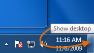 Show desktop button