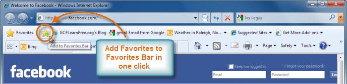 Add to Favorites Bar