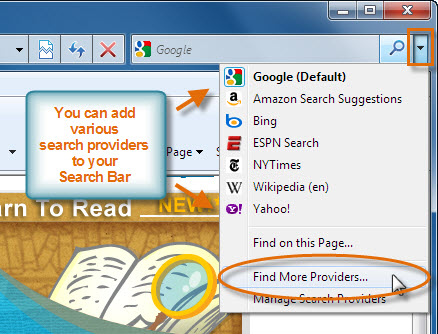 Add Search Providers
