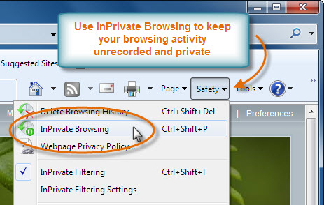 Access InPrivate Browsing
