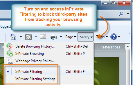 Access InPrivate Filtering