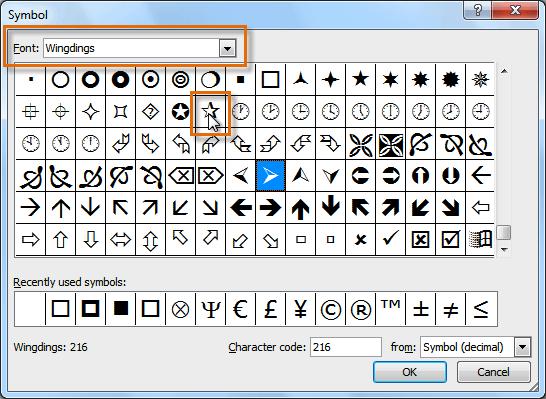 Choosing a symbol