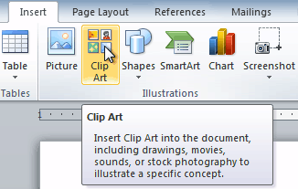 The Clip Art command