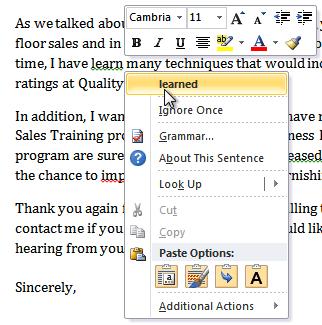 Correcting a grammar error