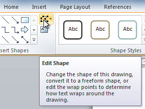 The Edit Shape command