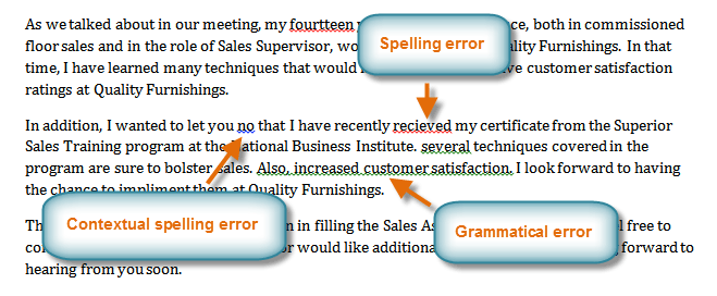 Word 2010 Checking Spelling And Grammar