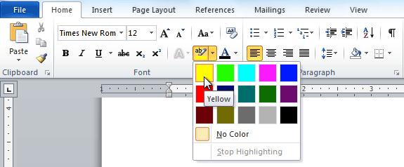 Выбор цвета подсветки