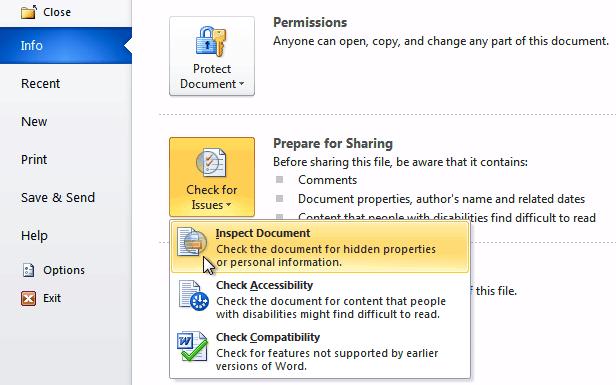 Нажмите «Проверить документ»