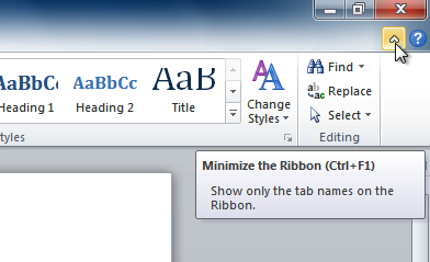 Minimizing the Ribbon