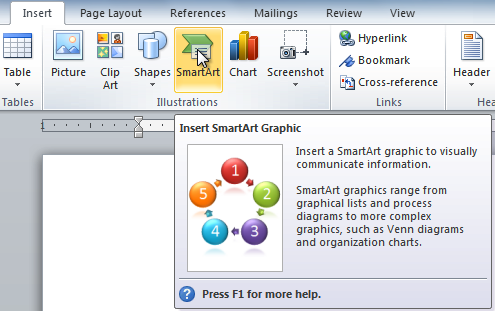 Word 2010 smartart graphics the smartart command ccuart Image collections