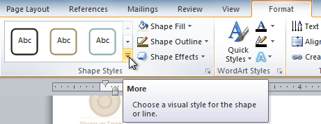 Viewing the Shape Styles