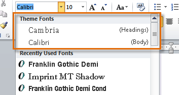 Word 2010: Styles and Themes Print Page