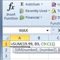 functions in excel
