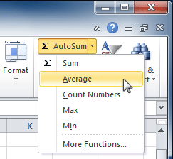 AutoSum command