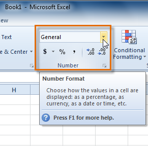 Excel 2010: Formatting Cells - Full Page