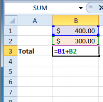 excel 2010 creating simple formulas