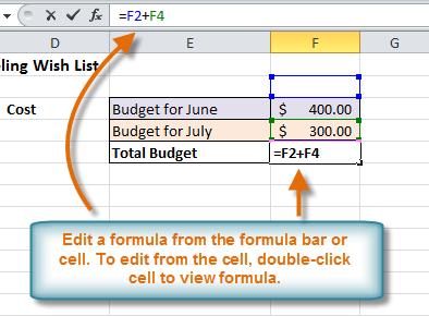 Edit a formula