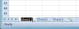 Renaming the worksheet