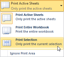 Selecting the Print Selection command