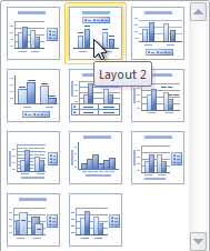 Selecting a chart layout