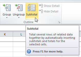 Excel 2010 outlining data opening the subtotal dialog box ibookread PDF