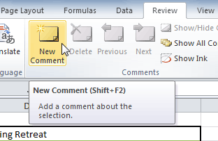 New Comment command