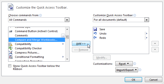 Excel 2010 Merging Copies Of A Shared Workbook