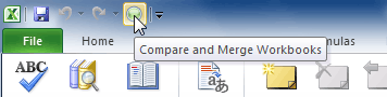 Compare and Merge Workbooks command