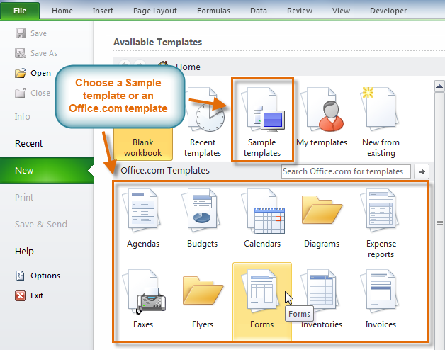 Excel 2010: Using Templates - Full Page