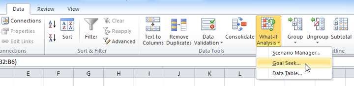 Consolidating data and what-if analysis examples