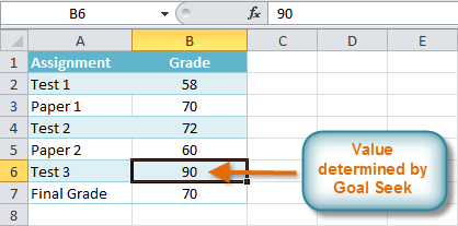 Screenshot of Excel 2010