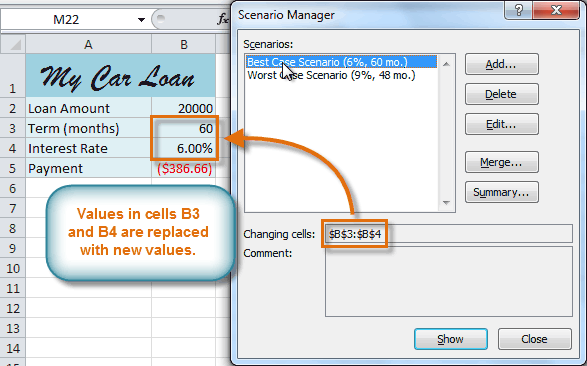 Excel 2010 Using What If Analysis Full Page