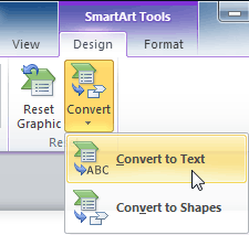 Converting SmartArt to text