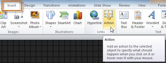 Редактирование кнопки действия